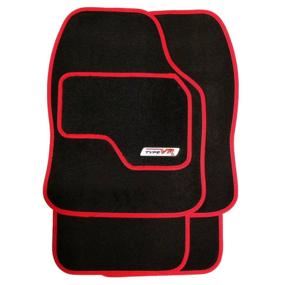 Set Of 4 Luxury Red On Black Replacement Car Mats All Carpet Renault Scenic Fuse Box Lid Removal Protector 5081946698068 Ebay