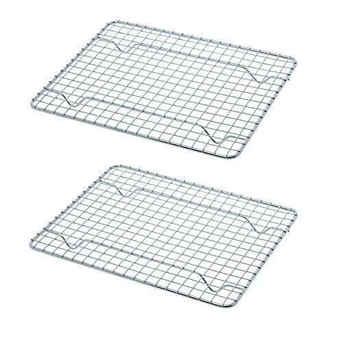 NEW 2PK 8x10 cooling Racks Wire Rack Pan Oven Kitchen Baking Cooking ...
