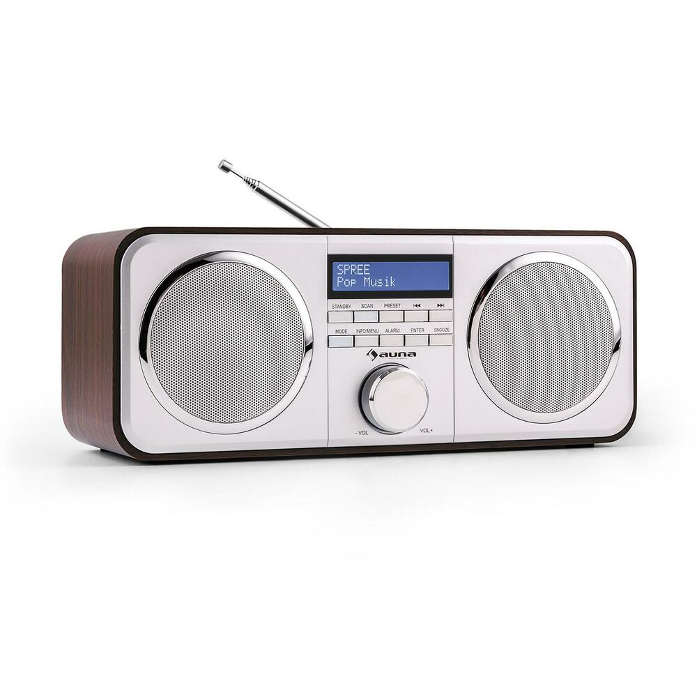 kitchen desktop hifi digital radio dab fm alarm clock stereo free p p. Black Bedroom Furniture Sets. Home Design Ideas