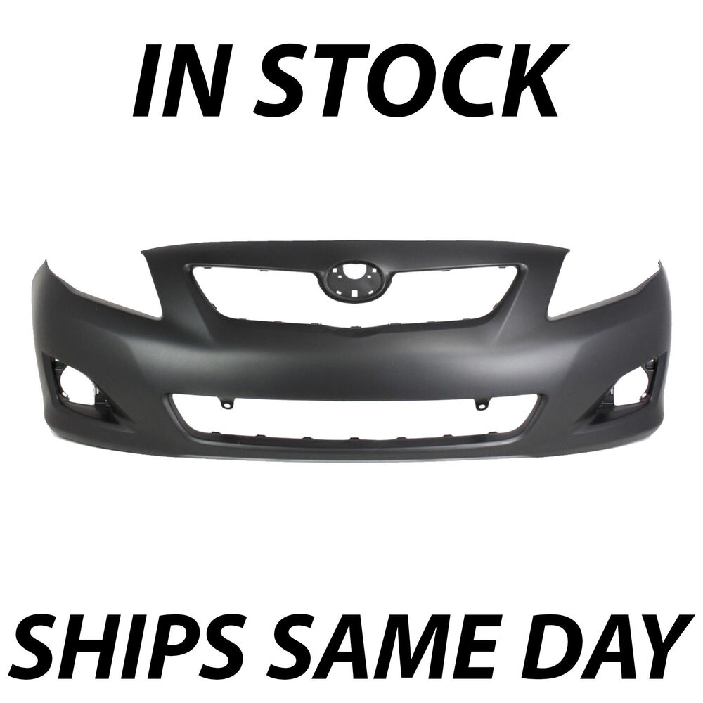 new primered front bumper cover 2009 2010 toyota corolla. Black Bedroom Furniture Sets. Home Design Ideas