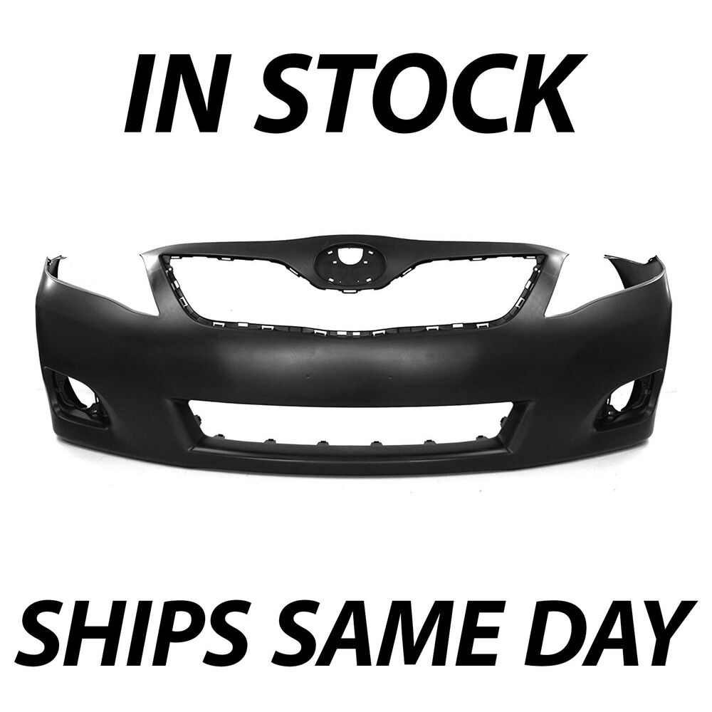 new primered front bumper cover fascia for 2010 2011 toyota camry sedan 10 11 ebay. Black Bedroom Furniture Sets. Home Design Ideas