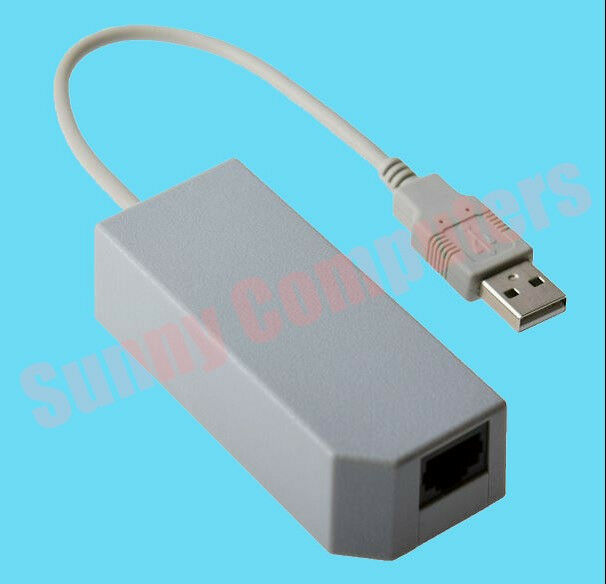 NEW* USB to RJ45 Wired Network Port ADAPTOR for NINTENDO Wii ...