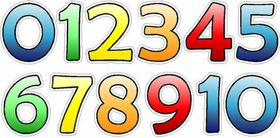 Colorful Number Stickers Removable Repositionable Number