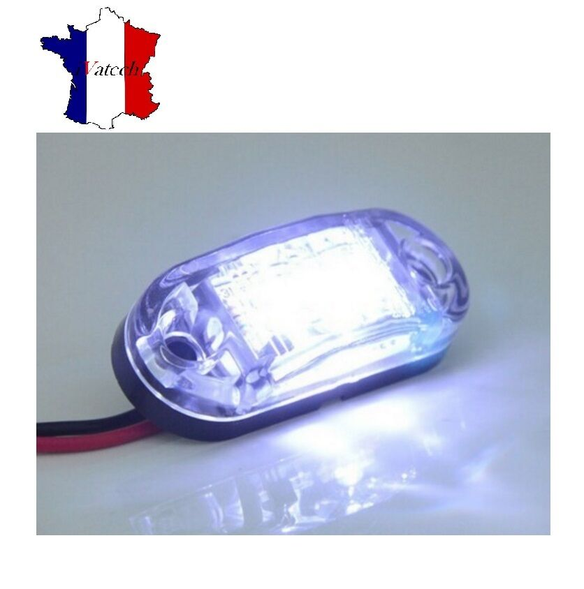 2 x 12v blanc smd 2 led feux de gabarit pour camion remorque caravane chassis ebay. Black Bedroom Furniture Sets. Home Design Ideas