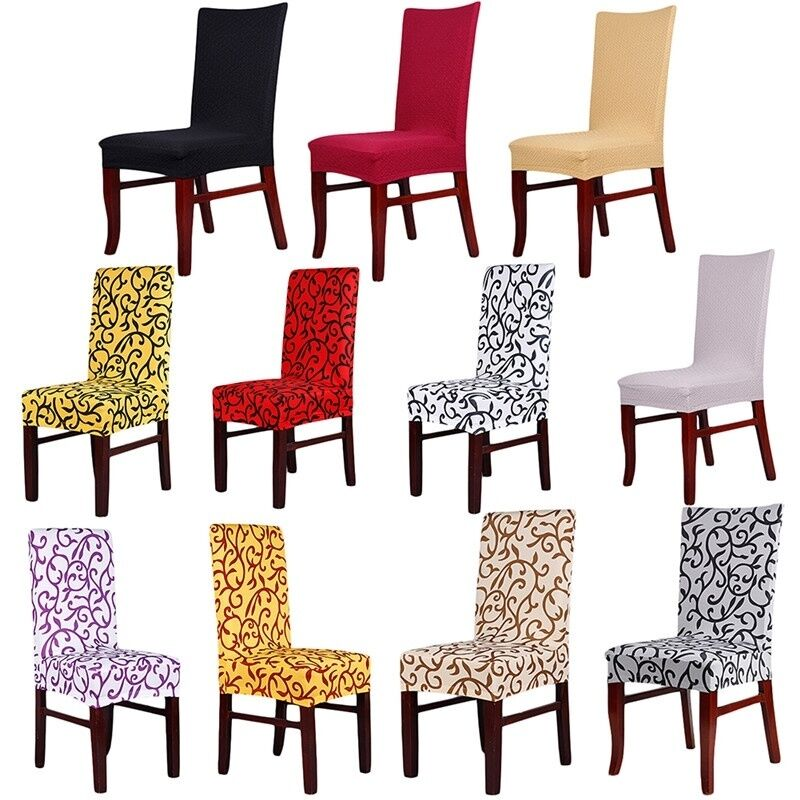 Stretch banquet slipcovers dining room wedding folding party short chair covers ebay