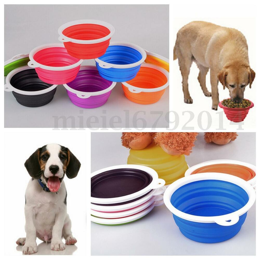 Portable Dog Pet Travel Collapsible Food Water Bowls Pets: Pet Dog Cat Folding Dish Bowl Collapsible Travel Portable