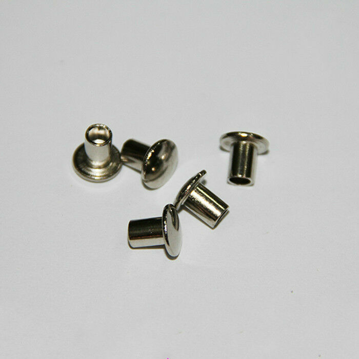 M4 Truss Oval Head Rivets Plate With Nickel Semi Hollow
