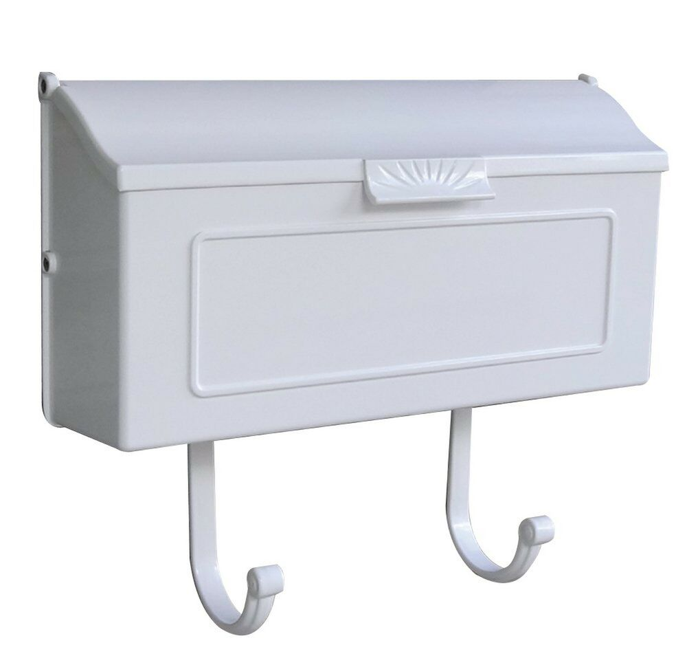 Wall Mount Mailbox Mail Box White Postal Post Letter Cast