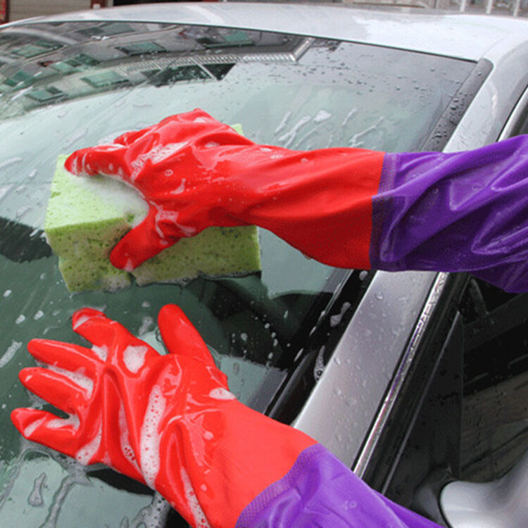 Perfect Kitchen Wash Dishes Clean Rubber Latex Gloves