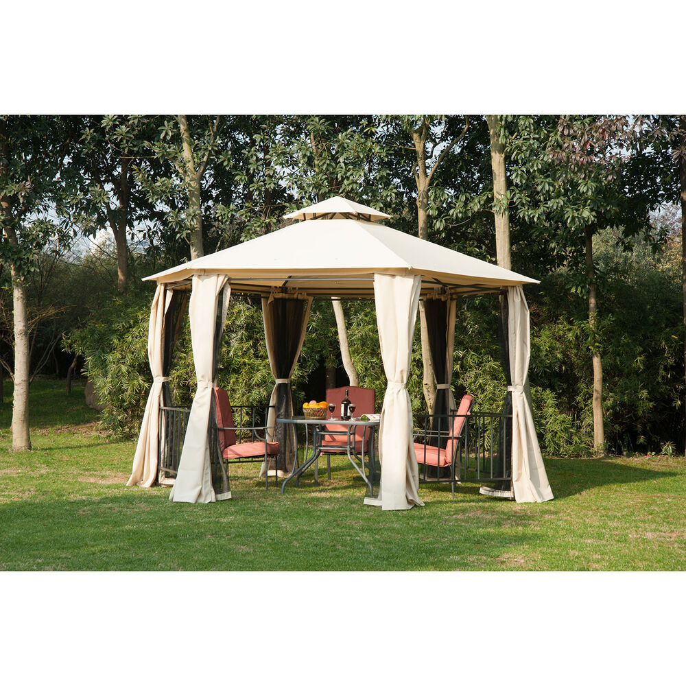 Outsunny 13' Gazebo Canopy Heavy Duty Outdoor Patio Party ...