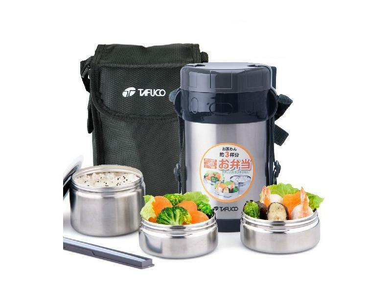 stainless steel lunch box container thermos food jar insulated lunch tote bag ebay. Black Bedroom Furniture Sets. Home Design Ideas