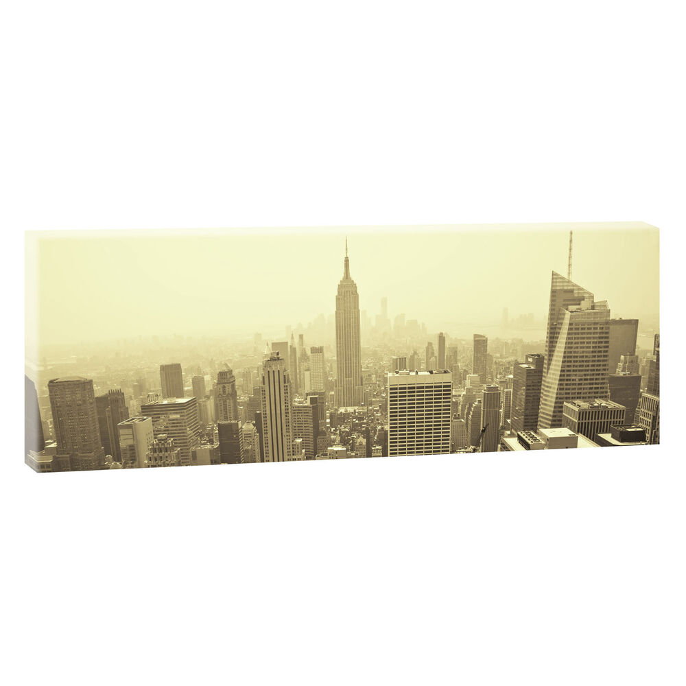 new york panoramabild leinwand poster xxl 150 cm 50 cm. Black Bedroom Furniture Sets. Home Design Ideas