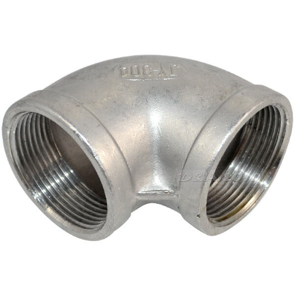 Quot elbow degree stainless steel female threaded