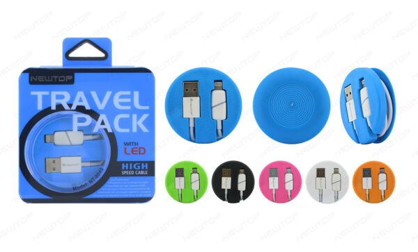 CAVO USB DATI SINCRONIZZA LIGHTNING TRAVEL PACK PER IPHONE 5S 6 6S PLUS NEWTOP®
