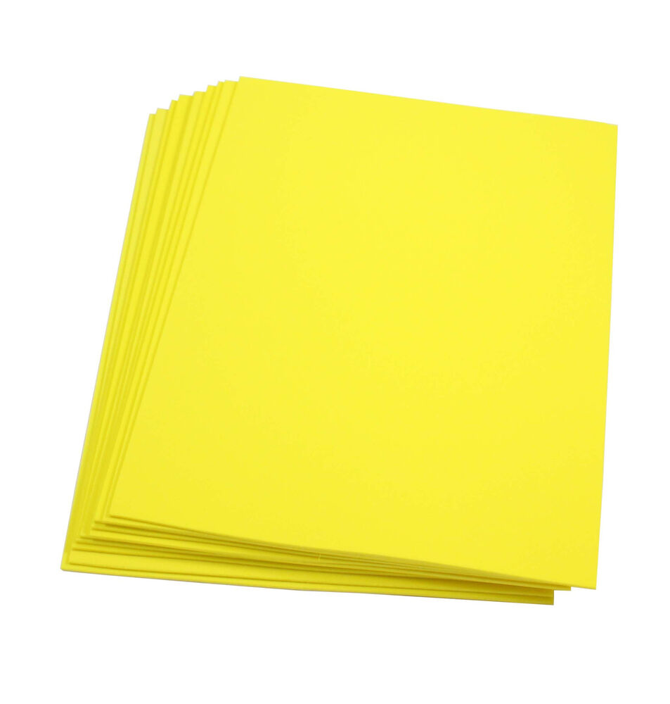 Yellow foam paper