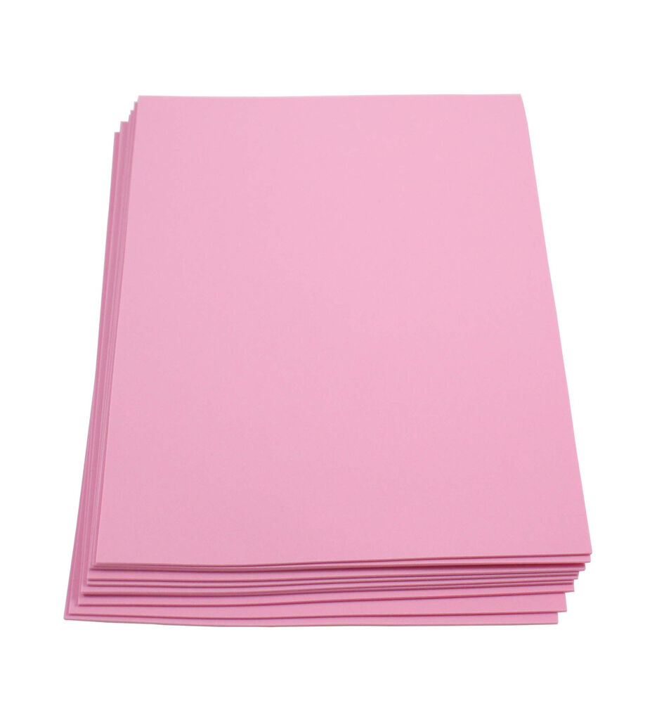 Craft foam sheets 9 x 12 inches pink 10 sheets 2 mm for Red craft foam sheets