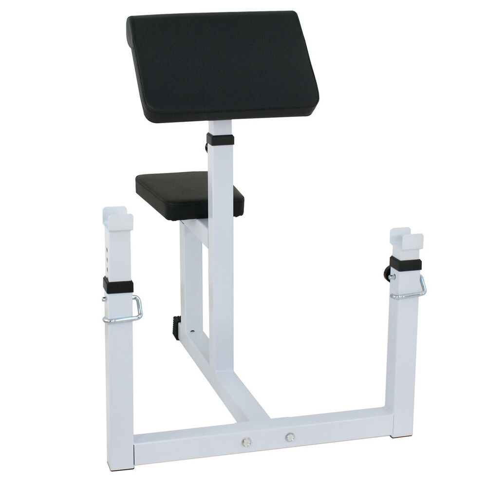 Preacher Curl Weight Bench Seated Preacher Isolated Curl Dumbbell Biceps Workout Ebay