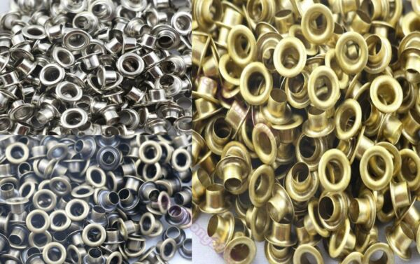 Wholesale 100-500pcs 5mm Hole Metal Eyelets With Grommet Card Decoration