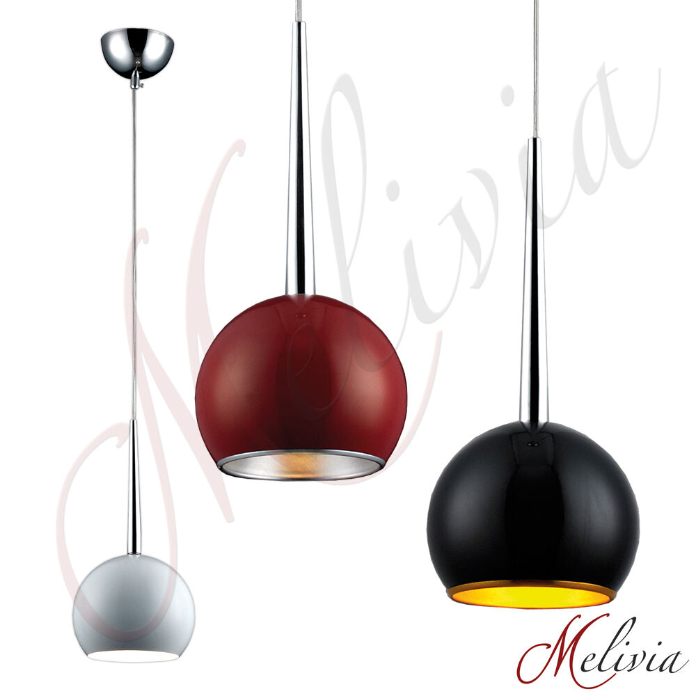 pendelleuchte rot schwarz silber grau gold weiss h ngelampe deckenlampe leuchte ebay. Black Bedroom Furniture Sets. Home Design Ideas