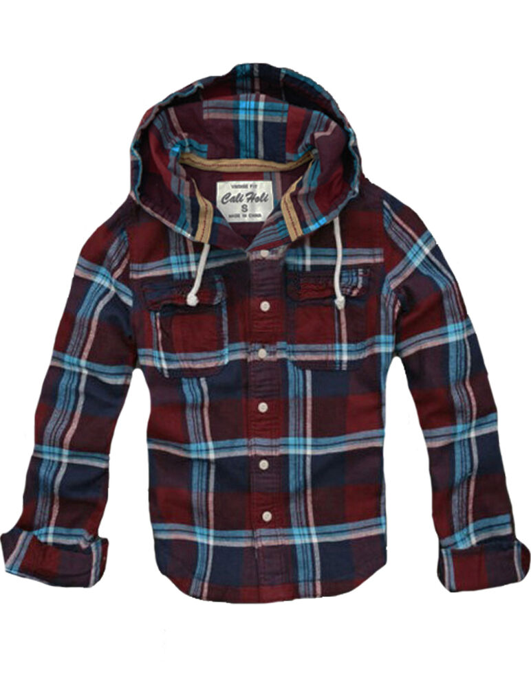 Ship from us womens cali holi slim skinny hooded flannel for Women s slim fit flannel shirt