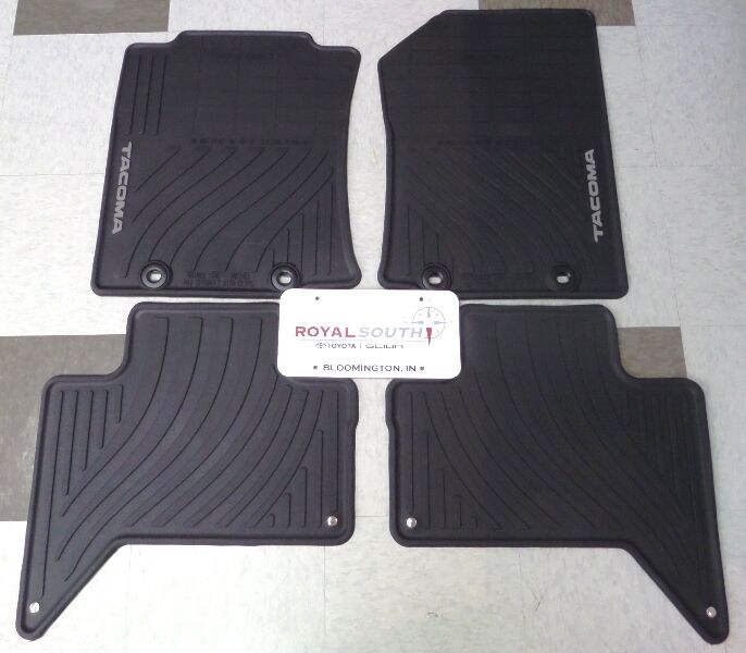 Toyota Tacoma Double Cab Factory All Weather Rubber Floor ...