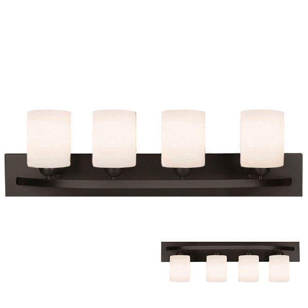 Oil rubbed bronze 4 light bath vanity light bar fixture - Bathroom lighting oil rubbed bronze ...