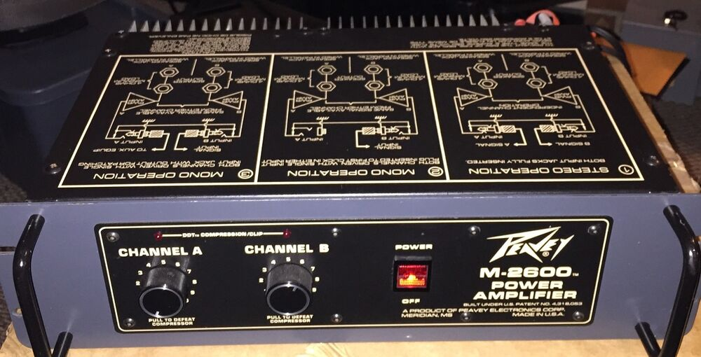 peavey m 2600 power amplifier ebay. Black Bedroom Furniture Sets. Home Design Ideas