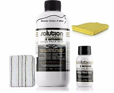 Solution Finish Black Plastic & bumper Restorer 12 oz. Free 1 oz towel & pad