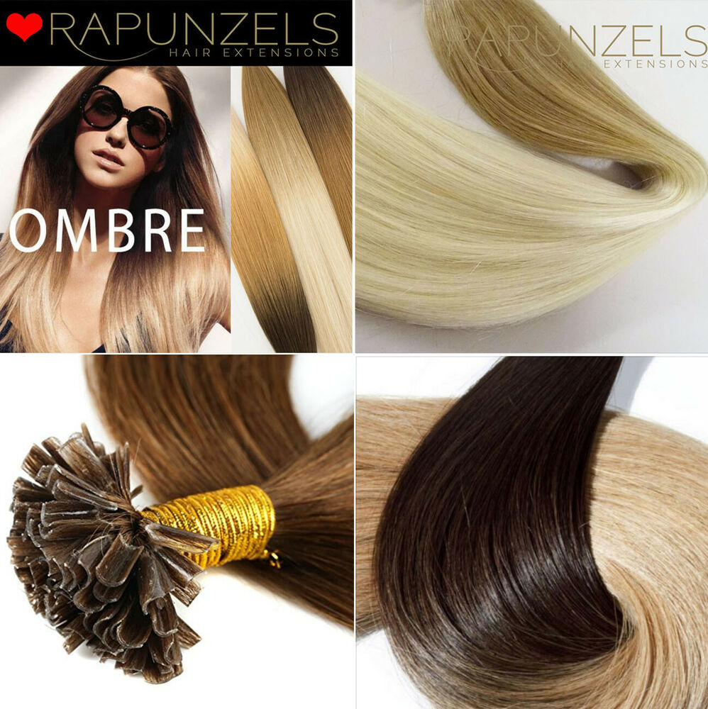 Items in rapunzels hair extensions shop on ebay remy dip dye ombre u nail tip pre bonded human hair extensions 16 18 pmusecretfo Gallery