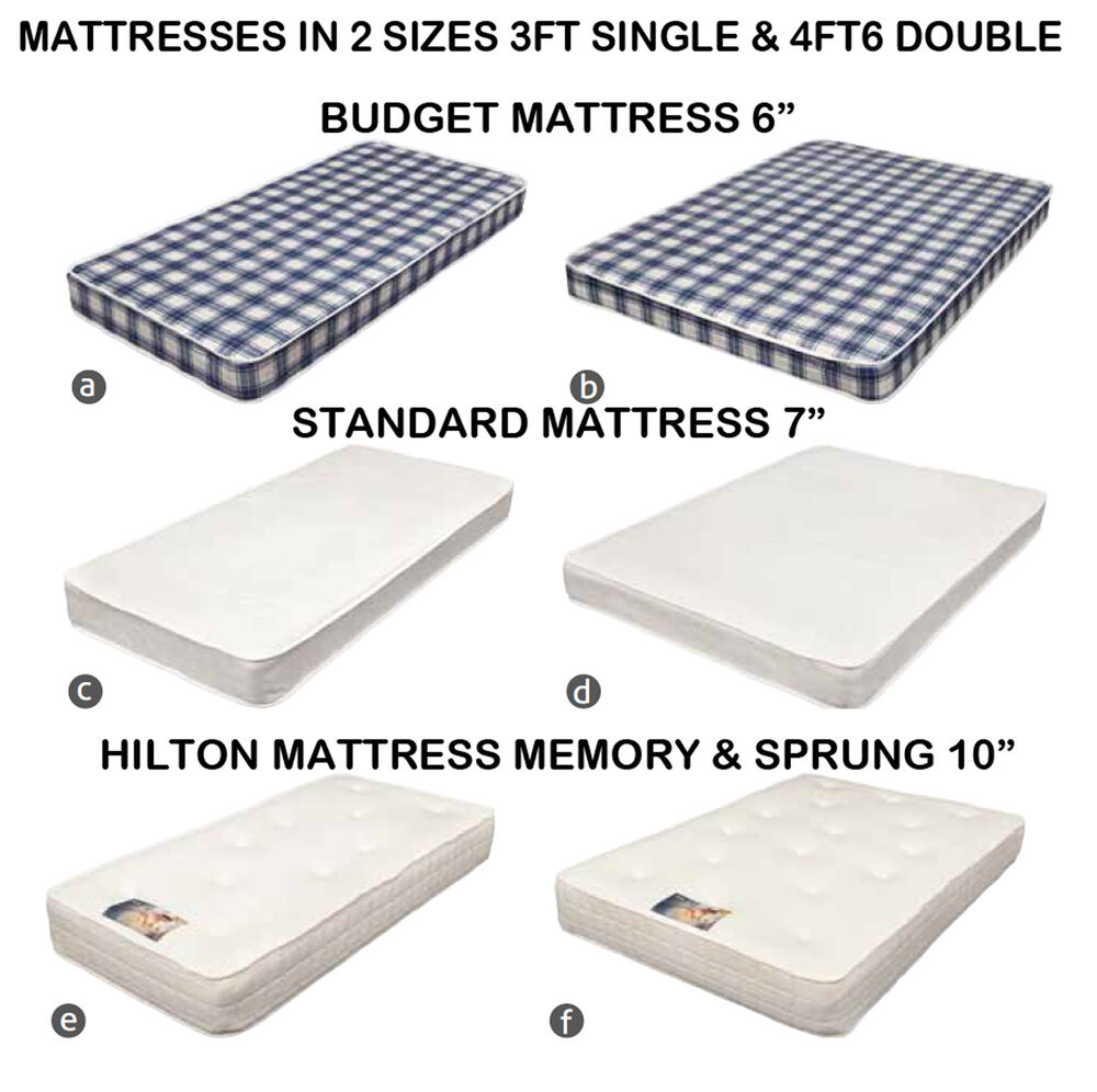 3ft Single 4ft6 Double Bed Mattress Budget 6 7 10