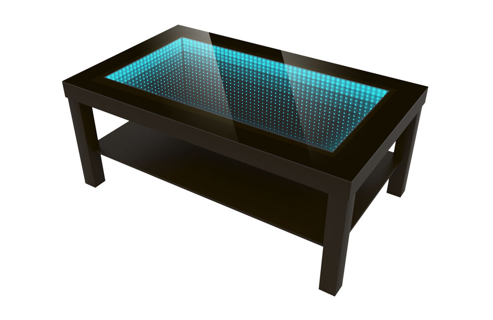 modern couchtisch glastisch beistelltisch spiegel tiefeneffekt tisch led 3d ebay. Black Bedroom Furniture Sets. Home Design Ideas