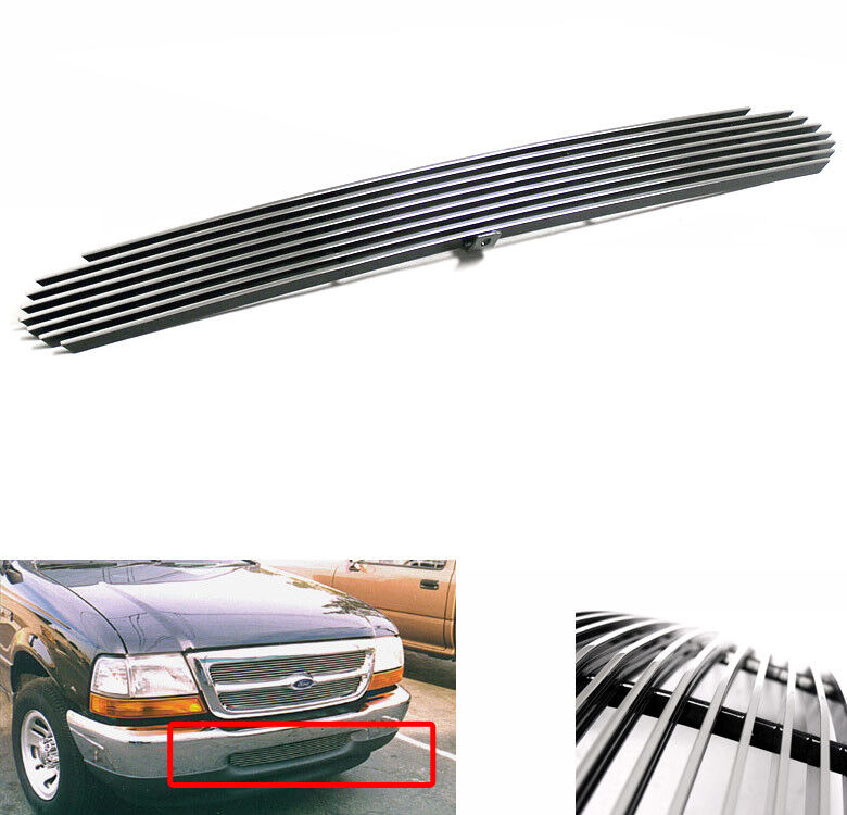 1998 1999 2000 ford ranger polished front bumper lower billet grille insert new ebay. Black Bedroom Furniture Sets. Home Design Ideas