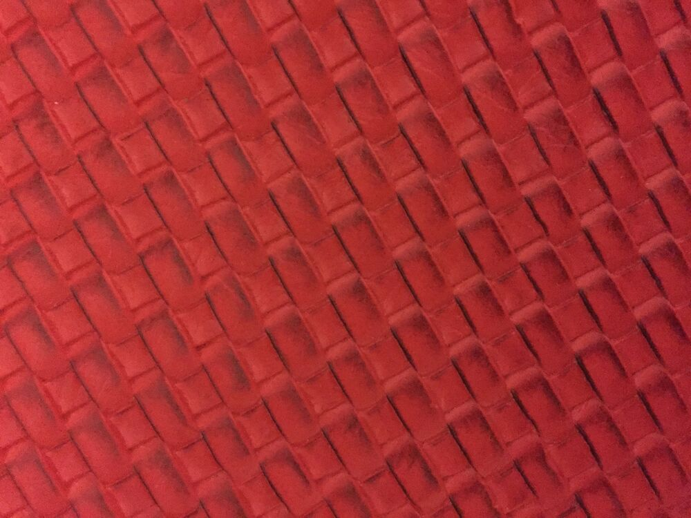 Red Basket Weave Woven Upholstery Vinyl Fabric Sold By