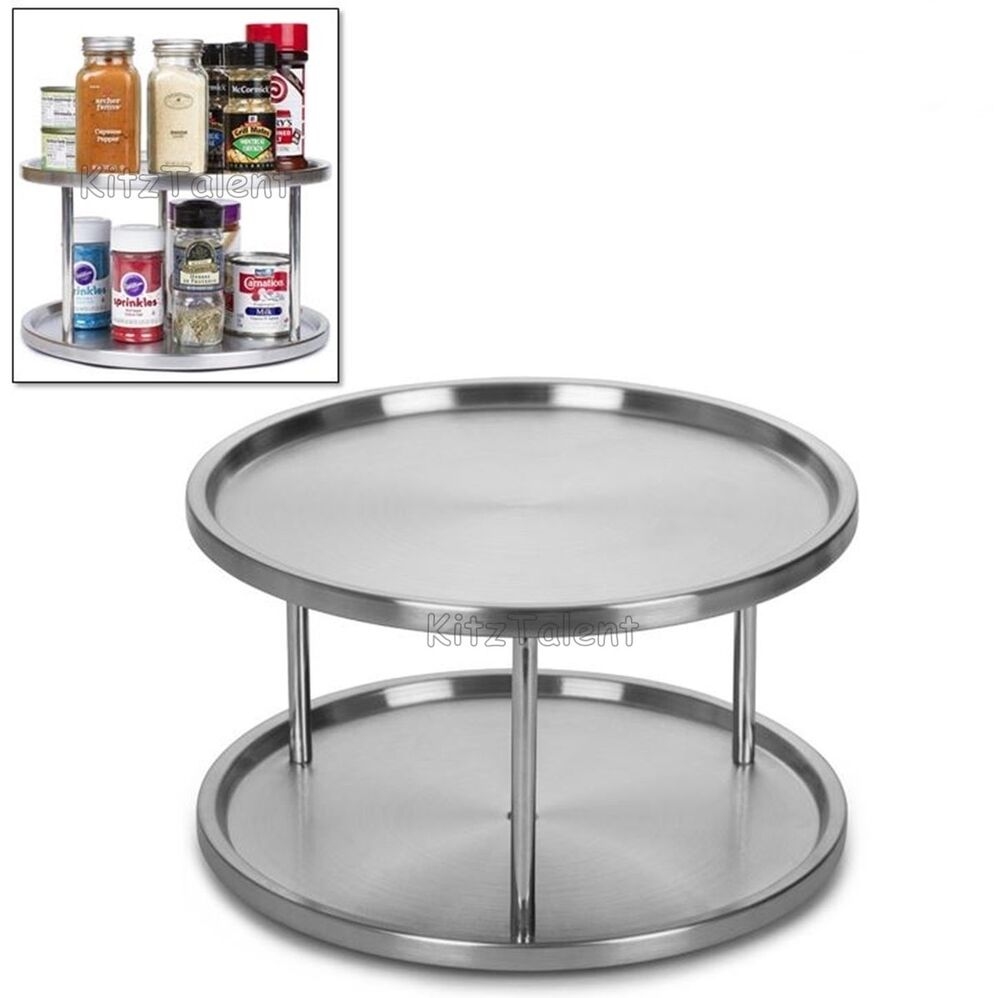 kitchen cabinet lazy susan turntable kitchen cabinet pantry organizer 2 tier lazy susan 19071