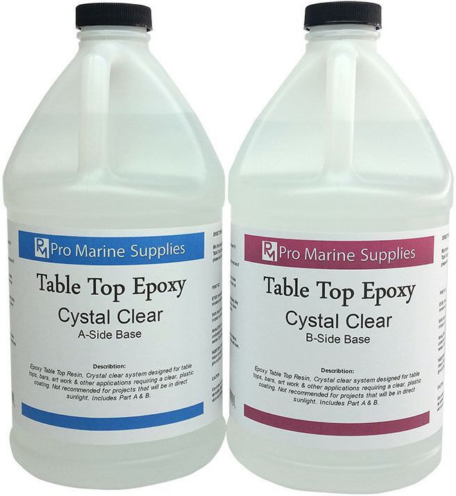 Crystal Clear Bar Table Top Epoxy Resin Coating for Wood Tabletop 1 ...
