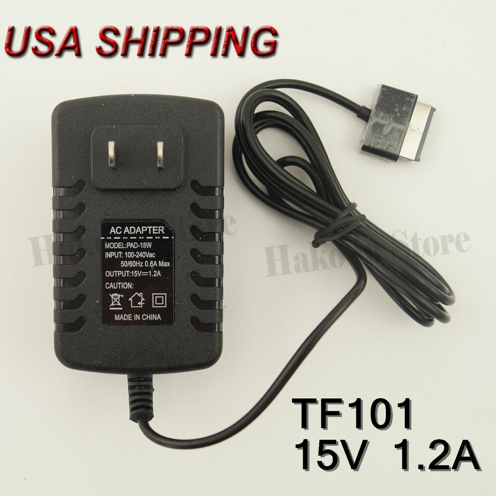 New 15v 1 2a Ac Travel Wall Charger Adapter For Asus Eee