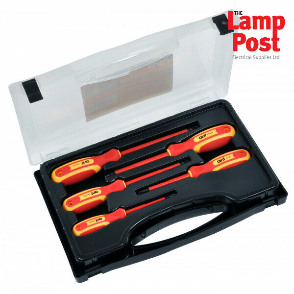 ck avit av05050 1000 volt insulated screwdriver set 5 pieces in a carry c. Black Bedroom Furniture Sets. Home Design Ideas