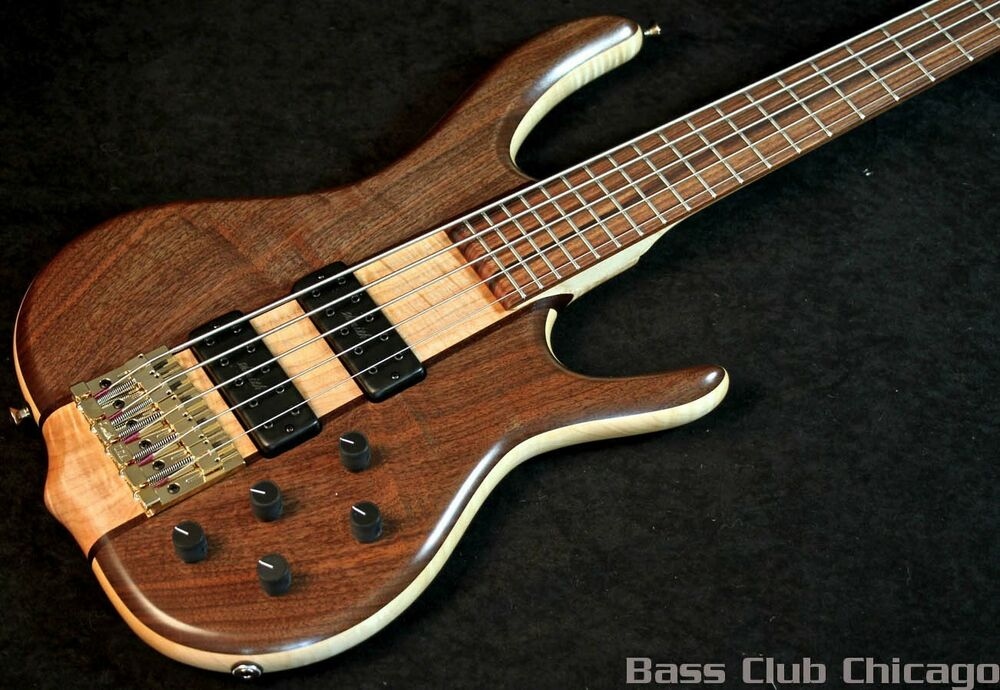 5 String V Bass : ken smith bsr5mw flame maple walnut 5 string bass new free shipping ebay ~ Russianpoet.info Haus und Dekorationen