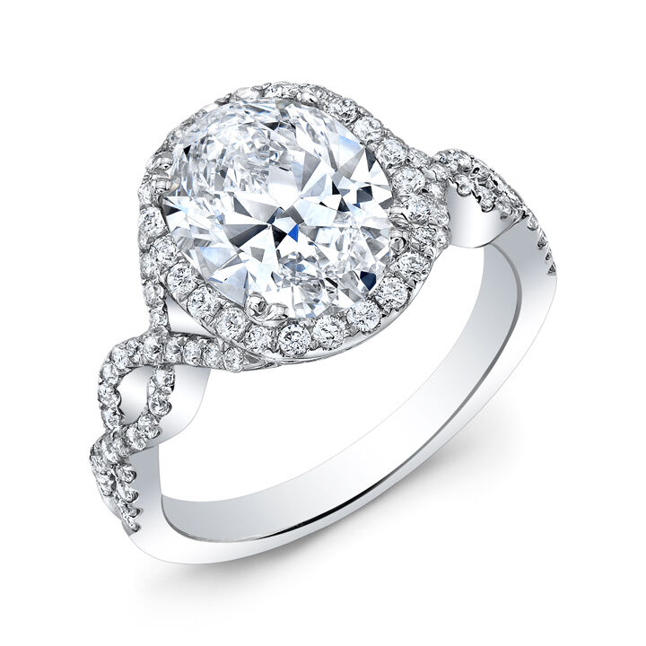 Ct Diamond Halo Engagement Ring