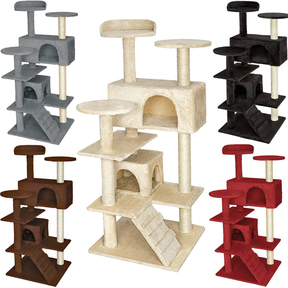 cat tree scratcher scratching post toy activity centre. Black Bedroom Furniture Sets. Home Design Ideas