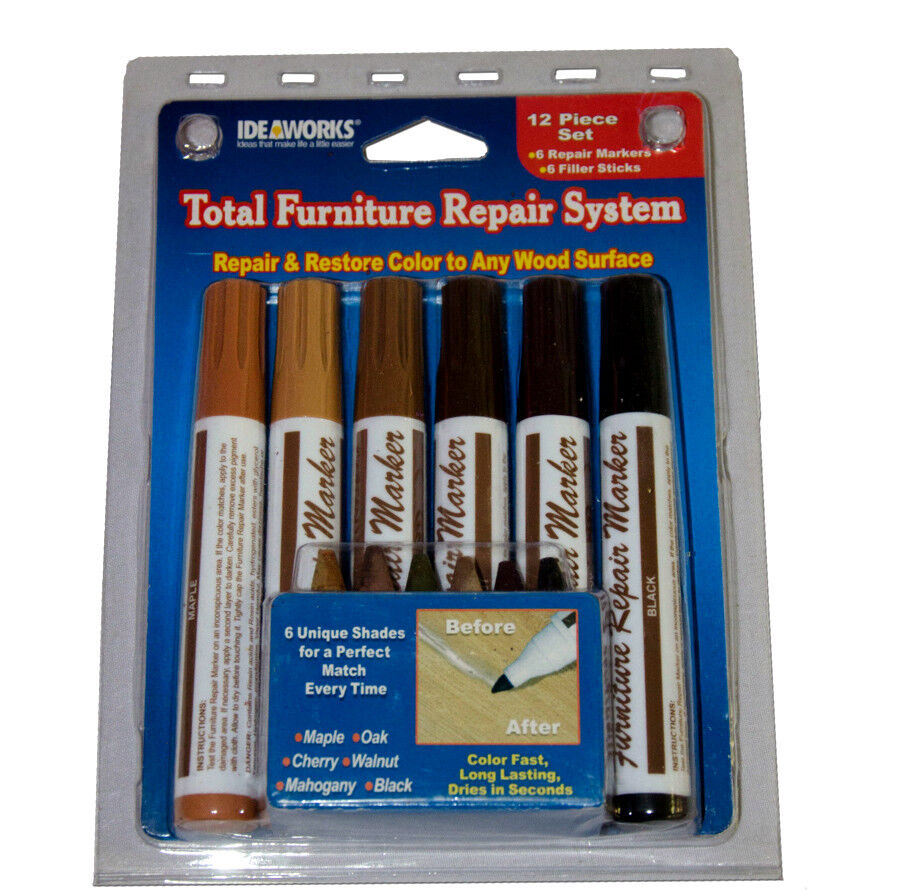 Furniture Repair Scratch Markers Wood Fillers Touch Up Kit 12 Pcs As Seen On Tv Ebay