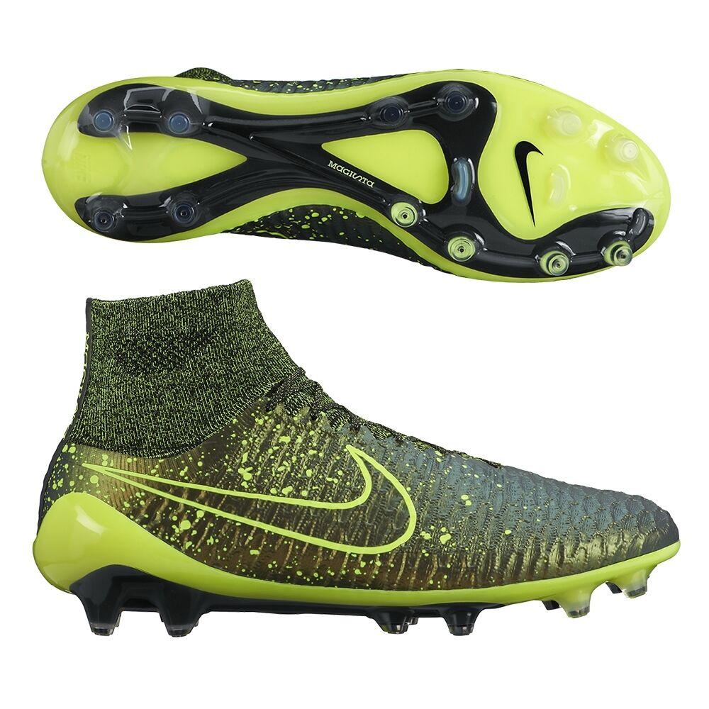 964ad038d9aa Details about NIKE MAGISTA OBRA FG FIRM GROUND SOCCER SHOES Dark  Citron Black Black Volt