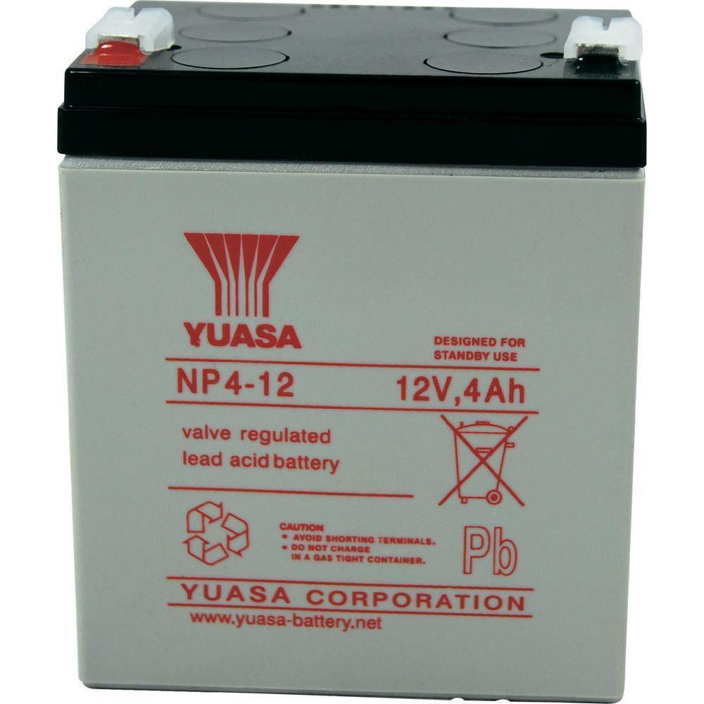 yuasa 12v 4ah battery replacement for rhino sla4 12 np4 12. Black Bedroom Furniture Sets. Home Design Ideas