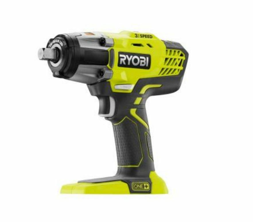ryobi one 18 volt 1 2 in cordless 3 speed impact wrench power tool tool only ebay. Black Bedroom Furniture Sets. Home Design Ideas