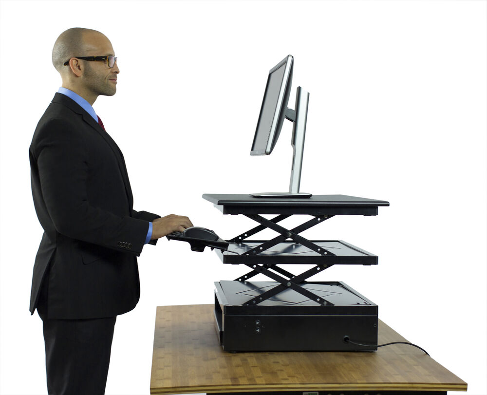 Electric Standing Desk Converter Adjustable Sit Stand Up