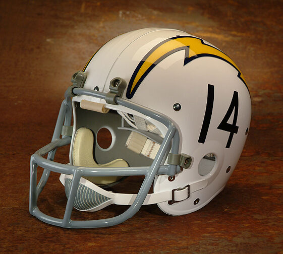 San Diego Chargers 14 Football Helmet Decals Numbers