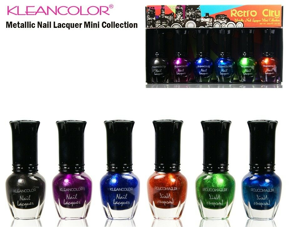 Kleancolor Nail Polish Set -Metallic Nail Lacquer Mini ...