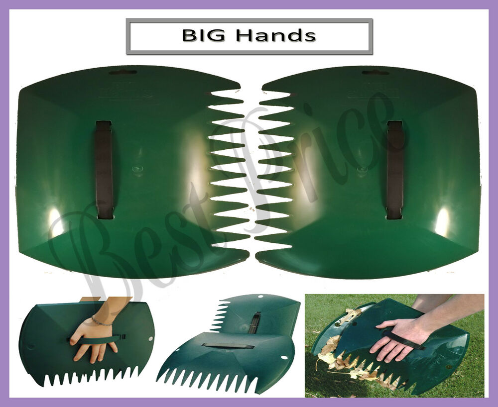 Big hands garden grass leaf rubbish waste glass for Big hands for gardening