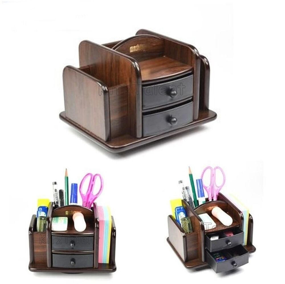 desk organizer with drawers office table desk organizer 2 plastic drawer wood pen 14686