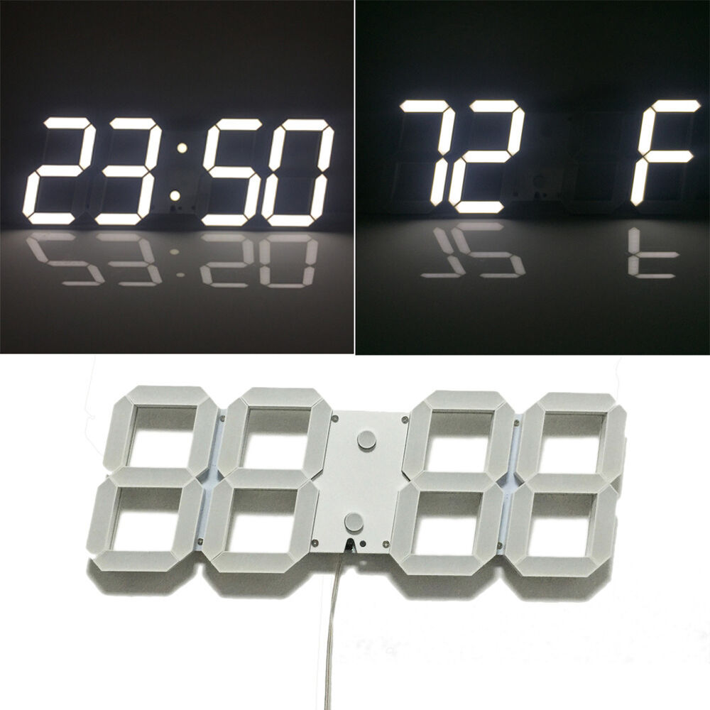 white large modern digital led wall clock countdown. Black Bedroom Furniture Sets. Home Design Ideas